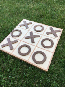 Wooden Backyard Tic Tac Toe